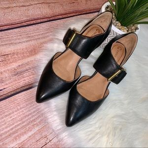 Corso Como Black Heels With Strap